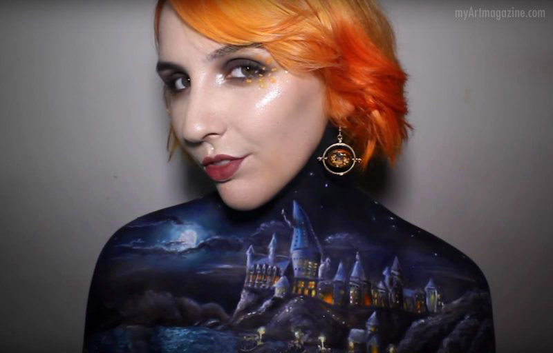 body painting art makeup artist hogwarts