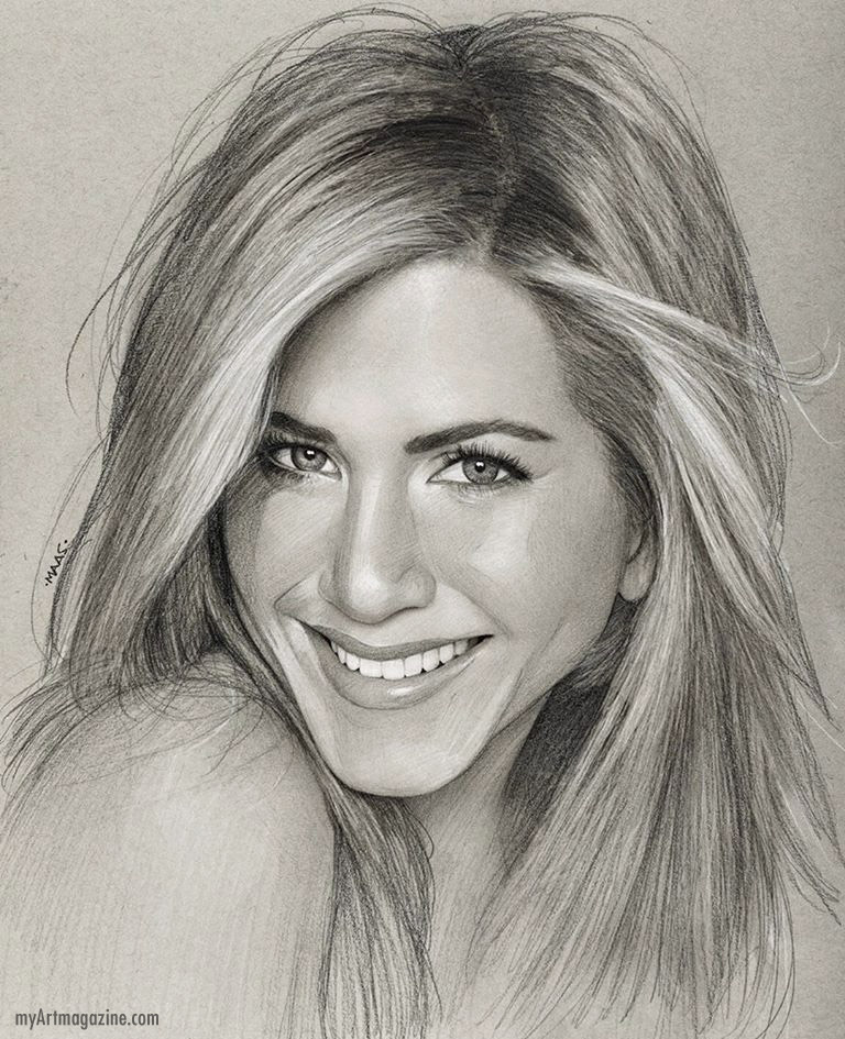 realistic pencil drawing portrait woman by justin maas