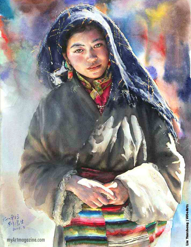 watercolor painting by liu yunsheng