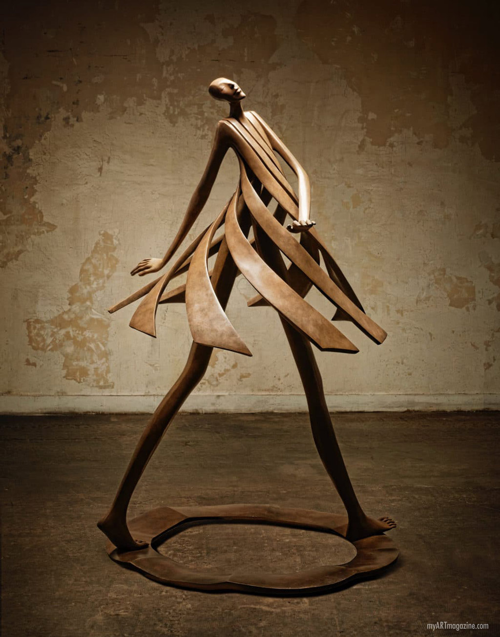 bronze sculpture primavera by isabel miramontes