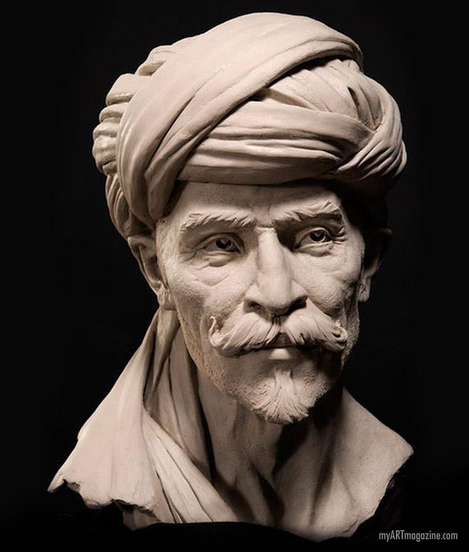 portrait sculpture bust