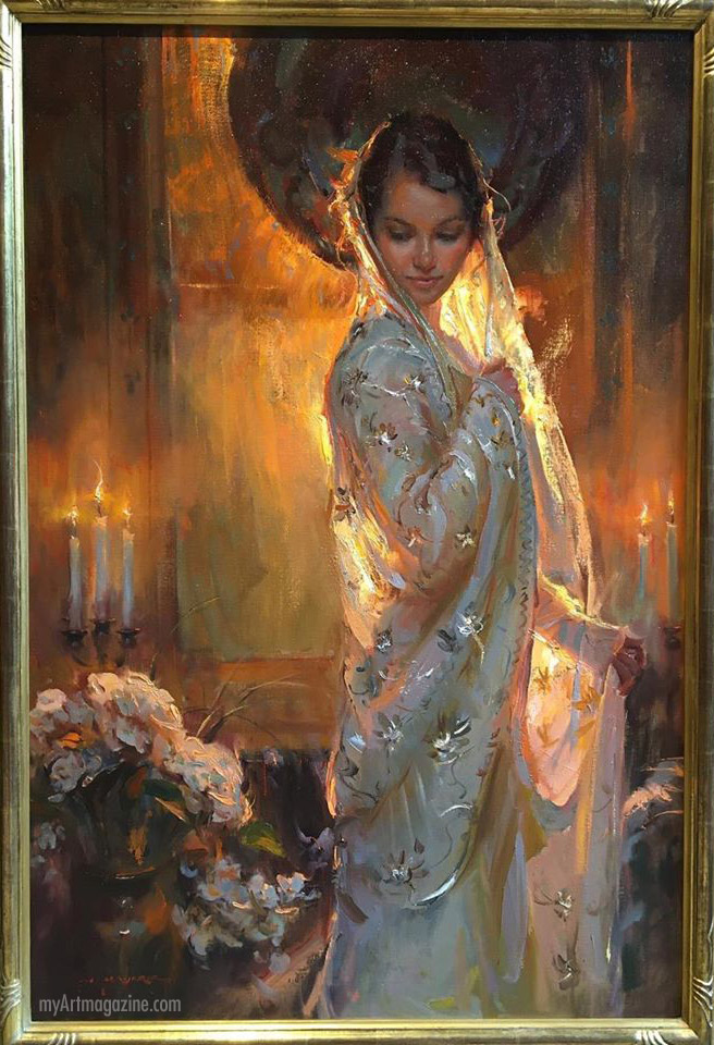 oil painting silk and light by daniel gerhartz studio
